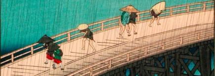 Detalle de un Ukiyo-e de Hirosigue (Fot. Garrido)