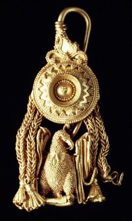 Pendiente romano. Siglo I a. C.(Foto J. Garrido)