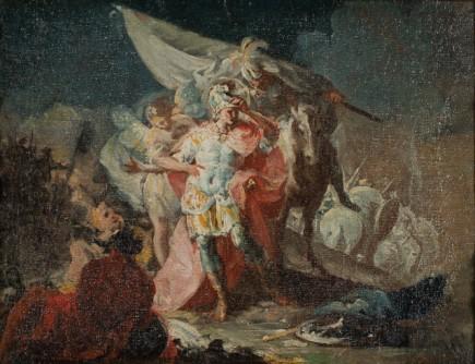 Boceto para Anibal cruzando los Alpes por Goya (Fot. E. Santos)