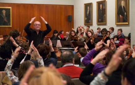El público siguió con palmas los pasajes más vibrantes