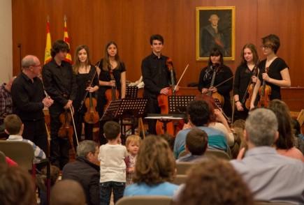 La orquestra Camerata Contrapunto en el Museo