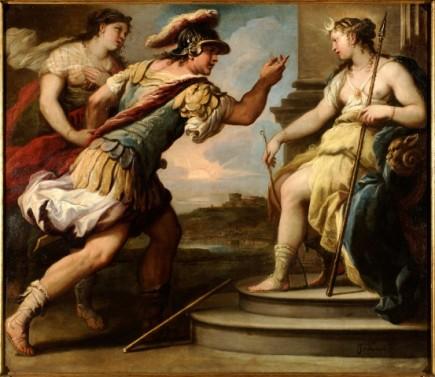 Céfalo y Procris ante Diana, Luca Giordano, ca. 1695. Foto: José Garrido. Museo de Zaragoza.