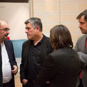 Momento antes de comenzar la presentación del Libro de Javier Fernández el pasado 23 de febrero. Foto: J. Garrido