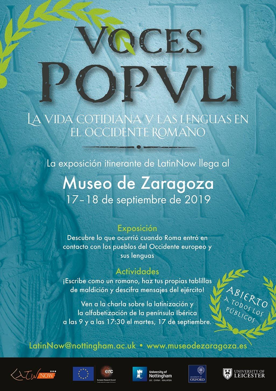 Voces Popvli: Vida y lengua cotidiana en el occidente romano @ Museo de Zaragoza. Salón de Actos