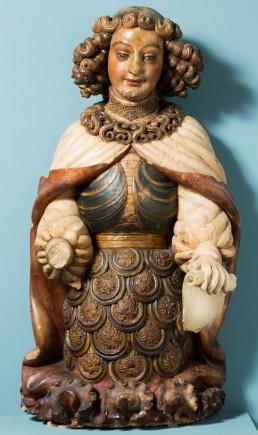 """""""Ángel custodio"""", Pere Johan. Foto: José Garrido. Museo de Zaragoza."""