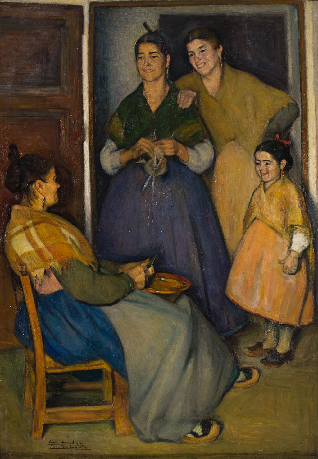 """Las tres edades"", Francisco Marín Bagüés. Foto: J. Garrido"