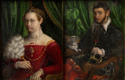 """""""Doble retrato de matrimonio"""", Lavinia Fontana. Foto: José Garrido. Museo de Zaragoza."""