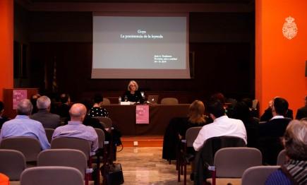 Janis Tomlinson. Conferencia inaugural simposio sobre el gusto V. Foto: José Garrido. Museo de Zaragoza.