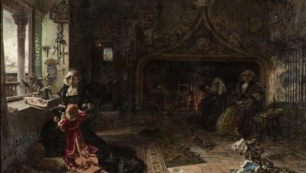 """""""Doña Juana la Loca recluida en Tordesillas"""", Francisco Pradilla, 1907. Foto: José Garrido. Museo de Zaragoza."""