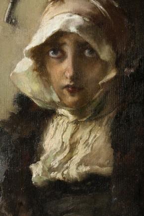 """""""Doña Juana la Loca recluida en Tordesillas"""" (detalle), Francisco Pradilla, 1907. Foto: José Garrido. Museo de Zaragoza."""