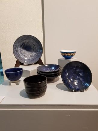 Vitrina con las piezas donadas por Kentaro Kotoge. Foto: Difusión Museo de Zaragoza.