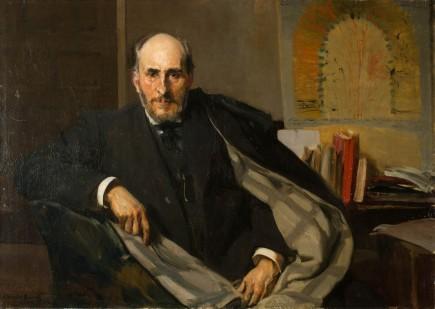 """""""Retrato de Santiago Ramón y Cajal"""", Joaquín Sorolla Bastida, 1906. Foto: José Garrido. Museo de Zaragoza."""