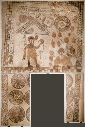 Mosaico del atleta vencedor. s.IV-ppio.s.V. Villa de Estada (Huesca). Foto: José Garrido. Museo de Zaragoza.