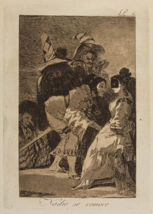 """""""Nadie se conoce"""", Caprichos, 6. Francisco de Goya y Lucientes. Foto: José Garrido. Museo de Zaragoza."""