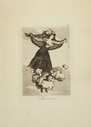 """""""Volaverunt"""", Caprichos, 61. Francisco de Goya y Lucientes. Foto: José Garrido. Museo de Zaragoza."""