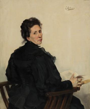 """Retrato de la madre del pintor"", Eduardo Chicharro, h. 1900. Foto: José Garrido. Museo de Zaragoza."