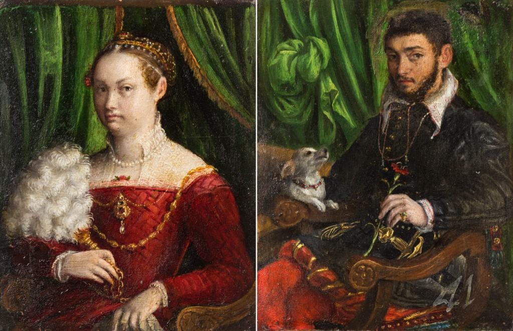 """""""Doble retrato de matrimonio"""", Lavinia Fontana, 1577-1585. Foto: José Garrido. Museo de Zaragoza."""