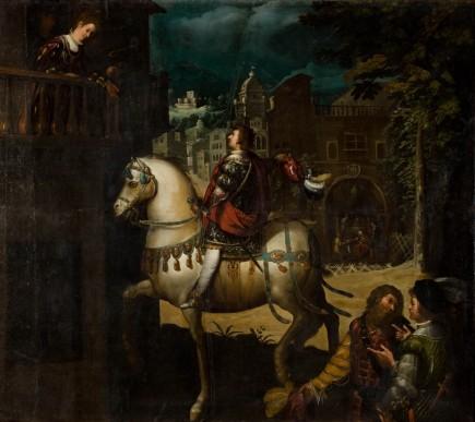 """""""Declaración de amor a María Junquers"""", Rafael Pertus, s. XVII. Foto: José Garrido. Museo de Zaragoza."""