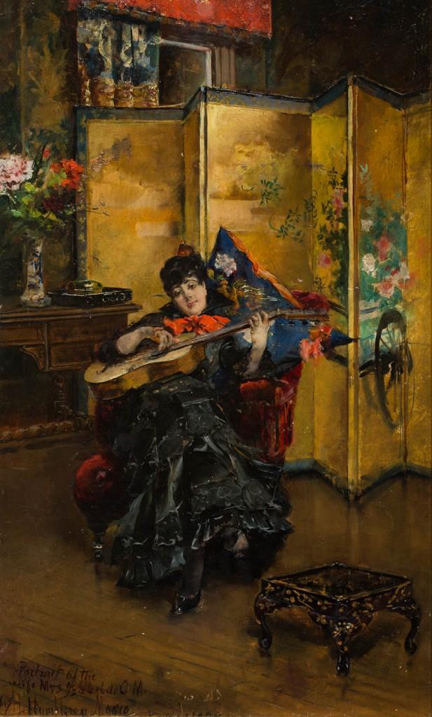 """""""Retrato de doña Isabel Cistué y Nieto"""", Henry Humphry Moore, 1898. Foto: José Garrido. Museo de Zaragoza."""