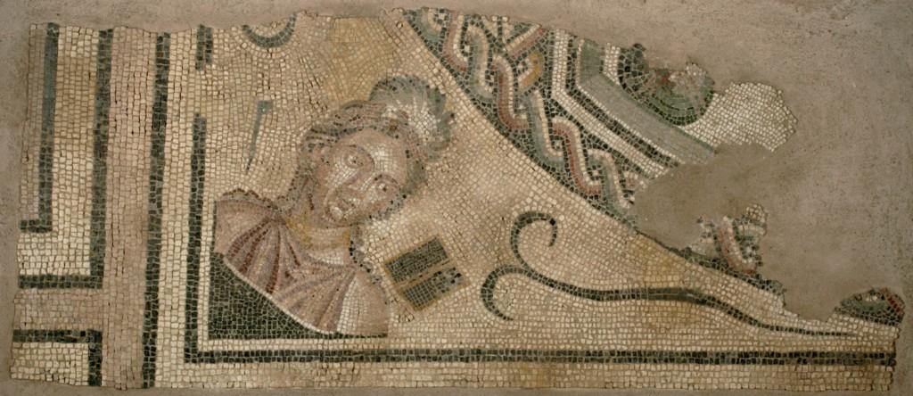Mosaico de la musa Clío, 191-200 d.C. Colonia Caesaraugusta (Zaragoza). Foto: José Garrido. Museo de Zaragoza.