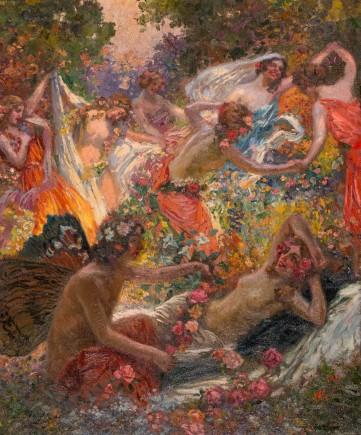 """""""El amor y las flores"""", Juan José Gárate, ca.1911. Foto: José Garrido. Museo de Zaragoza."""
