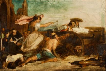 """""""La doncella de Zaragoza"""", David Wilkie, 1827. Foto: José Garrido. Museo de Zaragoza."""