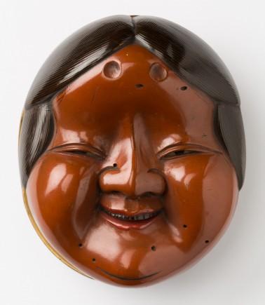 Caja con forma de máscara teatral Noh. Foto: José Garrido. Museo de Zaragoza.
