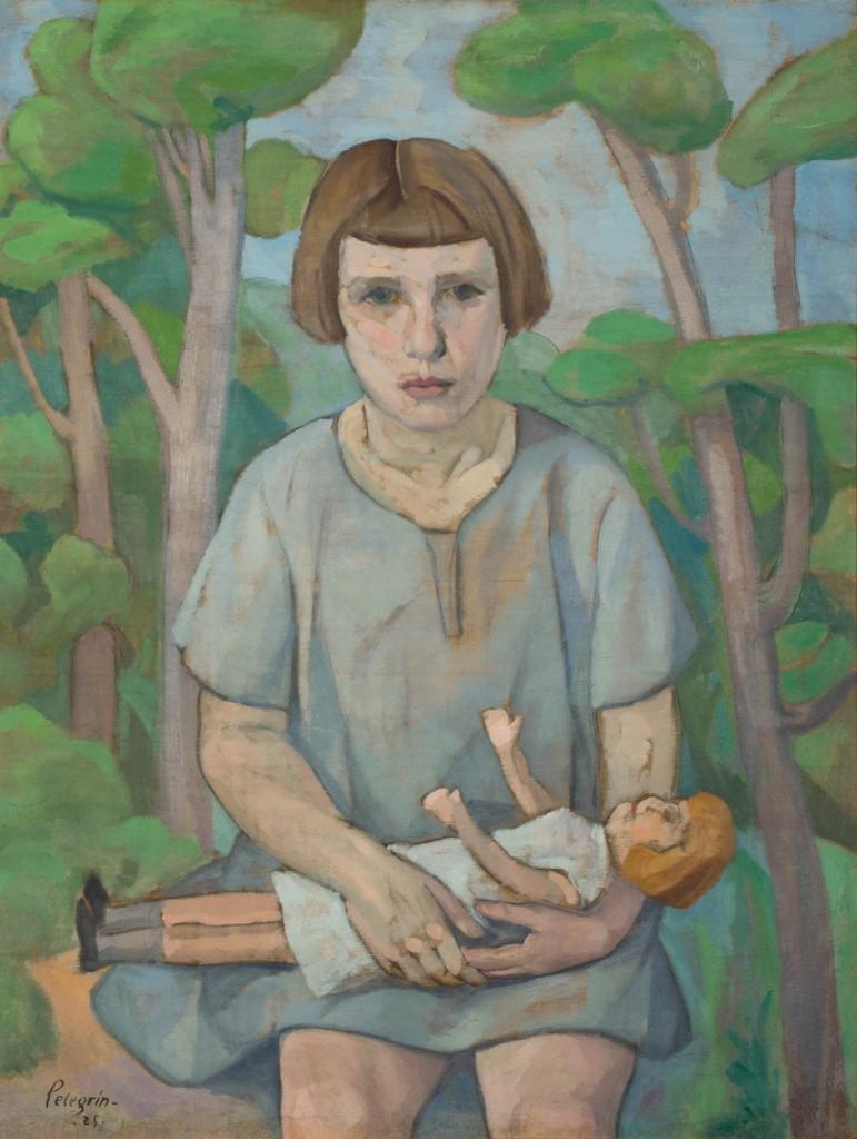 """""""María Pelegrín"""", Santiago Pelegrín, 1925. Foto: José Garrido. Museo de Zaragoza."""