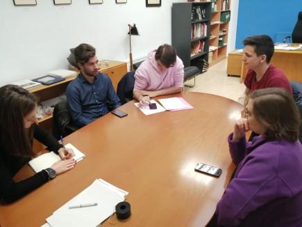 Reunión con los estudiantes de Ingeniería Informática. Foto: Difusión Museo de Zaragoza.