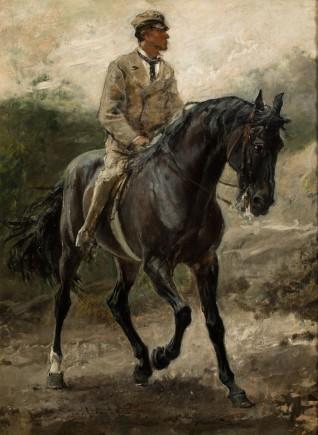 Caballo arabe del Conde Bobrinski, Francisco Pradilla, 1880. Foto: José Garrido. Museo de Zaragoza.