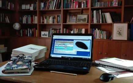 Departamento de Arqueología revisando y cumplimentando documentación desde casa. Foto: Difusión MdZ.