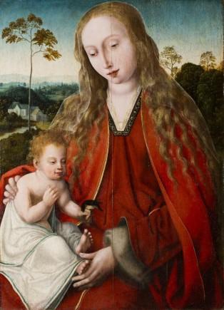 Virgen con Niño, Maestro de la Magdalena de Mansi, 1520. Foto: José Garrido. Museo de Zaragoza.