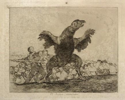 El buitre carnívoro, Desastres, 76, Francisco de Goya y Lucientes, 1863. Foto: José Garrido. Museo de Zaragoza.