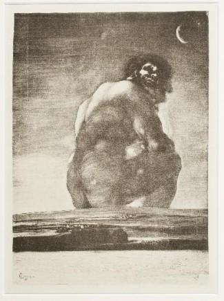 Coloso, copia de Francisco de Goya, 1923. Foto: José Garrido. Museo de Zaragoza.