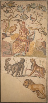 Mosaico de Orfeo, Roma Alto Imperio (193-217 d.C.). Foto: José Garrido. Museo de Zaragoza.