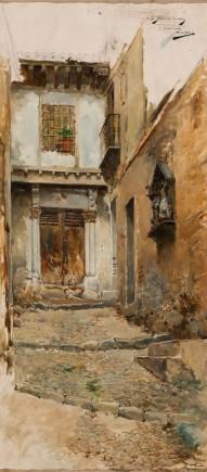Un rincón de Toledo, Mariano Barbasán, ca. 1887. Foto: Elisa Santos. Museo de Zaragoza.