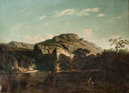 Paisaje de bosque y río, Carlos de Haes, ca.1855-1870. Foto: José Garrido. Museo de Zaragoza.