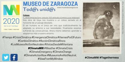 Museum Week ClimateMW Museo de Zaragoza. Fot: Difusión Museo de Zaragoza.