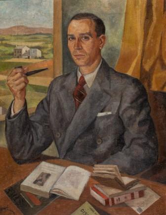 Retrato del profesor Carlos María Álvarez-Peña, José Baqué Ximénez, 1943. Foto: José Garrido. Museo de Zaragoza.