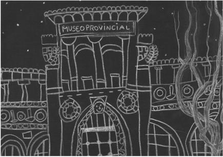 Primer premio I Concurso de Dibujo. Categoría 6-9 años. Laura Barrena. Museo de Zaragoza.