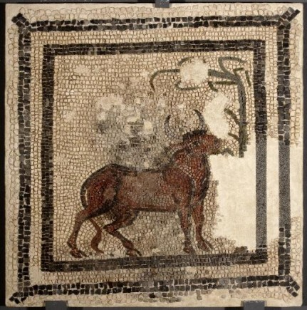 Mosaico. s.IV. Villa Fortunatus, Fraga (Huesca). Foto: José Garrido. Museo de Zaragoza.