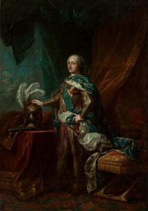 El rey Luis XV con armadura en su tienda, Carle Van Loo, ca. 1750-1762. Foto: José Garrido. Museo de Zaragoza.