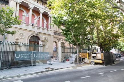 Aspecto exterior del museo en la recta final de las obras. Foto: José Garrido. Museo de Zaragoza.
