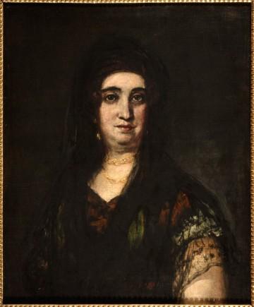 Dama con mantilla, Francisco de Goya, 1824-1825. Foto: José Garrido. Museo de Zaragoza.