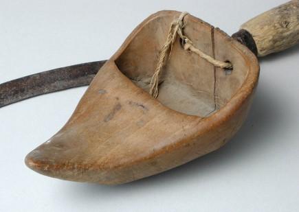Hoy y zoqueta en detalle. Sección de etnología. Foto: José Garrido. Museo de Zaragoza.