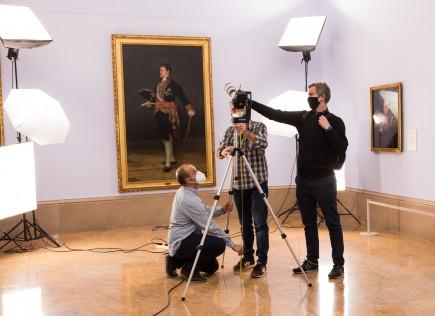 Clase presencial del curso sobre Nuevas tecnologías aplicadas a la conservación en el museo. Foto: Eduardo González. Museo de Zaragoza.
