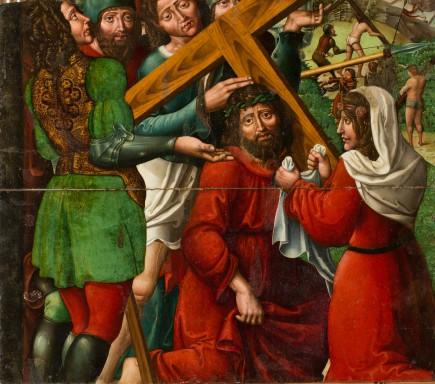 Jesús con la cruz a cuestas, Rodrigo de Sajonia, ca.1515-1519. Foto: José Garrido. Museo de Zaragoza.