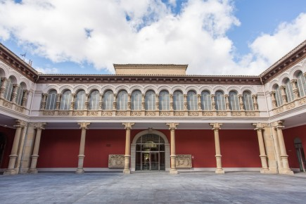 Patio del museo tras la renovación de 2020. Foto: Eduardo González. Museo de Zaragoza.