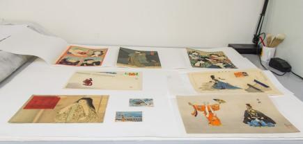 Estampas procedentes del depósito realizado en septiembre de 2020 en el museo. Foto: Eduardo González. Museo de Zaragoza.
