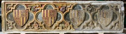 Proceso de restauración del sepulcro de don Pedro Fdez. de Híjar. Foto: Eduardo González. Museo de Zaragoza.